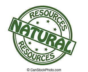 Stamp with text natural resources inside, vector illustration