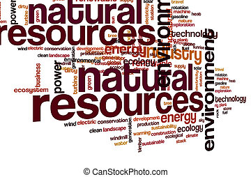 Natural resources word cloud concept