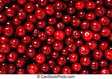 natural ripe fresh cherry, background, close-up