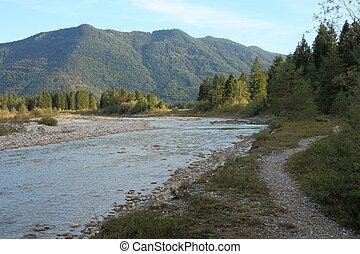 natural river in a autumn landscape