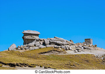 Natural Rock Formation in the area on the Bucegi Mountains ...