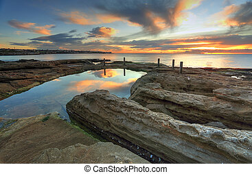Natural rock pool, South Coogee Australia