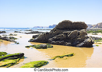 Natural rocks at the beach in Portugal