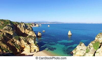 Natural rocks near Lagos in Portugal