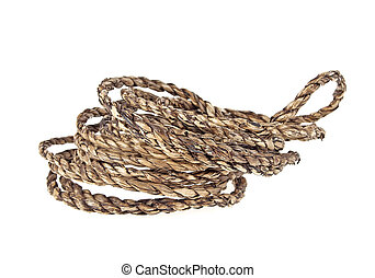 Natural rope isolated on white background