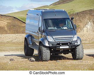 off-road transporter in Iceland