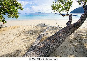 natural sea beach of nyaung oo phee island andman sea border myanmar and southern of thailand