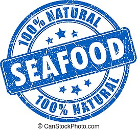 Natural seafood rubber stamp