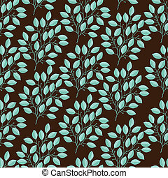 Natural seamless pattern with branches of leaves.