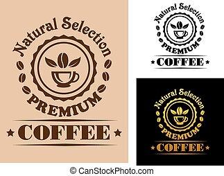 Natural Selection Premium Coffee label