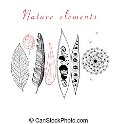 Natural set of different objects