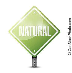 natural sign illustration design