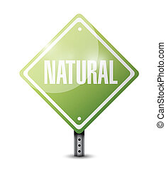 natural sign illustration design