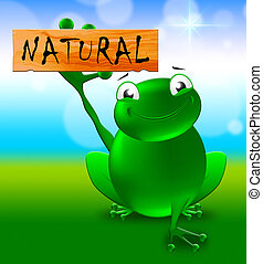 Natural Sign Shows Healthy Nature 3d Illustration