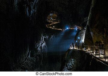 natural, skocjan, sitio, cuevas, eslovenia, herencia
