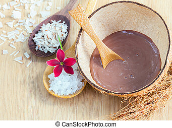 Natural Spa Ingredients . - Sea salt  ingredients for scrub and