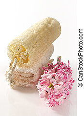 Natural sponge and terry towel-accessories for weakening ...