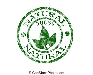 Natural stamp - %100 natural grunge rubber stamp