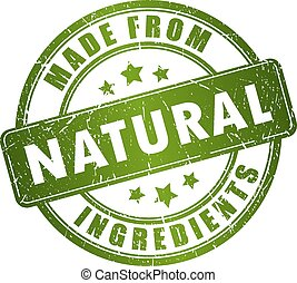 Natural stamp - Made from natural ingredients stamp