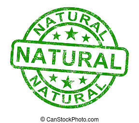 Natural Stamp Shows Pure Genuine Product