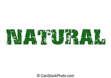 Natural stamp text
