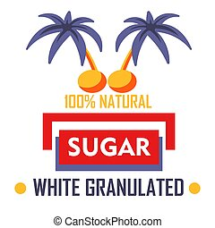 Natural sugar white granulated sweetener plantation or...