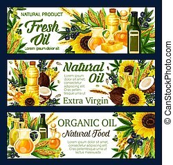 Natural sunflower and olive cooking oils - Natural oils, ...