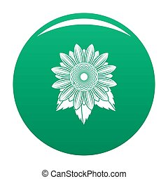 Natural sunflower icon green