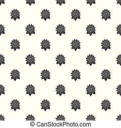 Natural sunflower pattern seamless vector