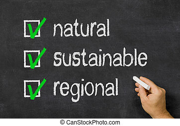 natural, sustainable, regional