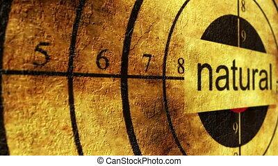 Natural target grunge concept