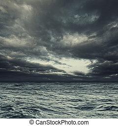natural, tempestuoso, landcape, abstratos, oceânicos, desenho, seu