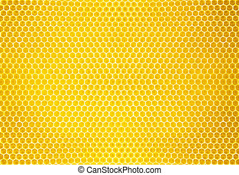natural, textura, miel, plano de fondo, peine, o