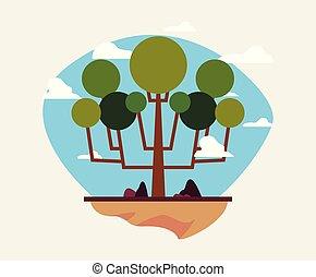 natural trees sky nature landscape