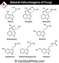 Natural tryptamine hallucinogens - baeocystin,...