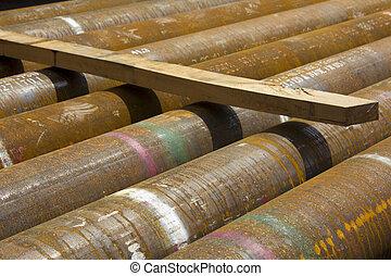 natural, tubos, gas, perforación