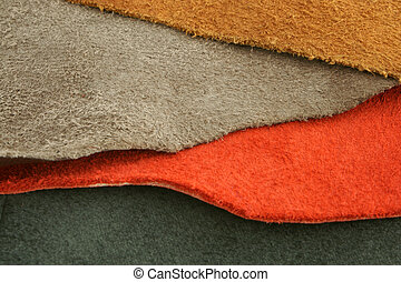 Natural variegated suede background closeup