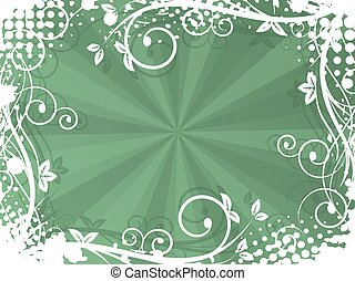 Natural vector background with spiral pattern, grunge and halftone effect.