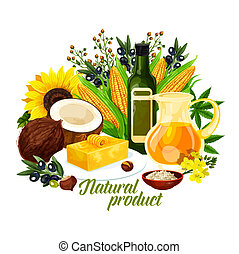 Natural vegetable oil, healthy food and cooking - Natural ...