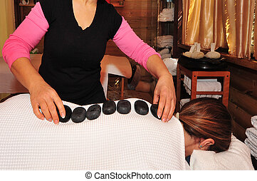 Natural Volcanic Stone Massage - Special volcanic stone...