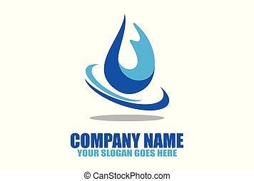 natural water logo vector