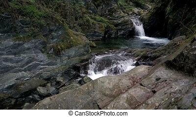Natural waterfalls and pools