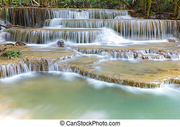 Natural waterfalls in deep forest