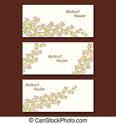 natural web header design