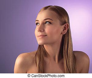 Natural woman portrait
