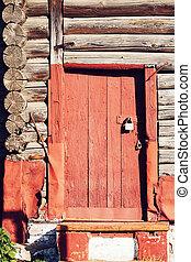 wood door and wall textured wallpaper background.