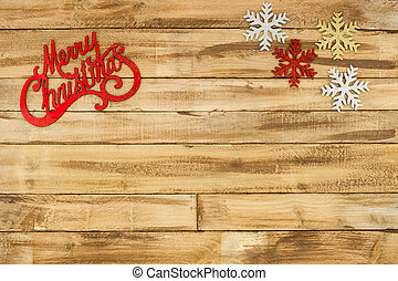 natural wood textured background with christmas decoration