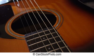 Natural Wooden Classical Acoustic Guitar. Sliding over...