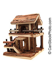 natural wooden house toy