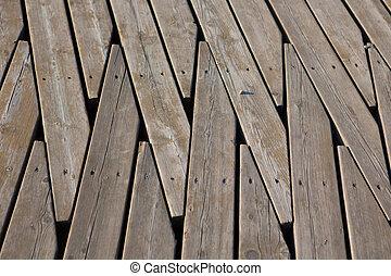 Natural wooden panel floor background